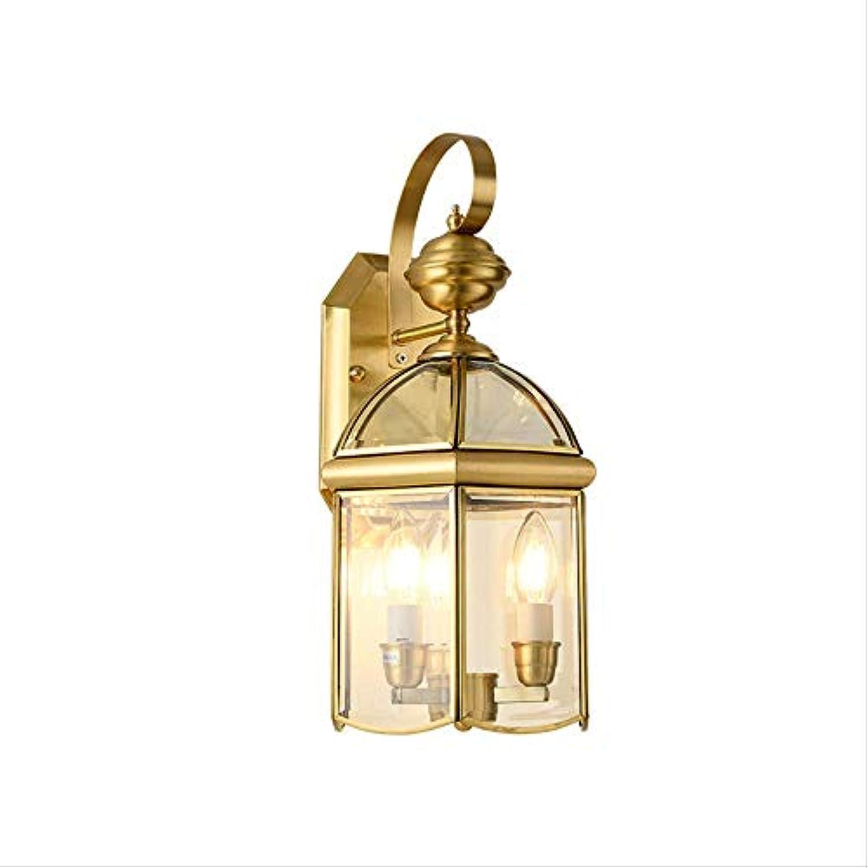 Europische Art Kupferne Wandlampe, Retro- Gartenhauptbeleuchtung Im Freien, Einfache Korridorgangbalkonauenwandtreppen-Wandlampe