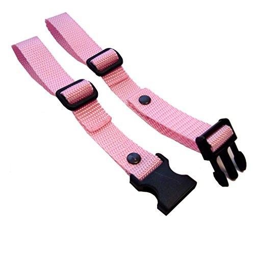 GURTIES® Brustgurt für Schulranzen Schulrucksack Rucksack universal 27 Farben (rosa)