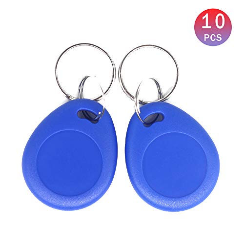 THONSEN 13.56MHz MIFARE Classic 1K RFID Contactless Key Fob ISO14443A Color Blue (Pack of 10)