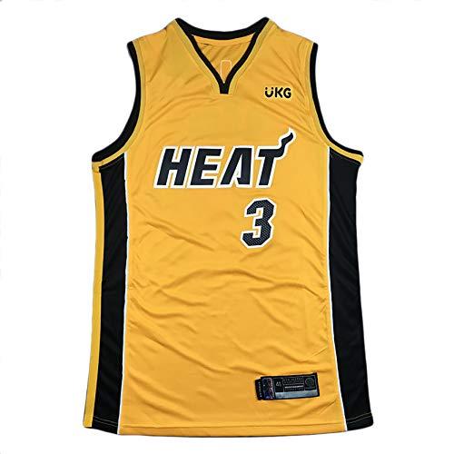 DSASAD Hombre Miami Heat 3# Wade 22# Jimmy Butler 14# Tyler Herro 14# Adebayo Baloncesto Recompensa Edición Jersey Camiseta, Fibra de poliéster, Regalo para los fanátic NO.3-XL