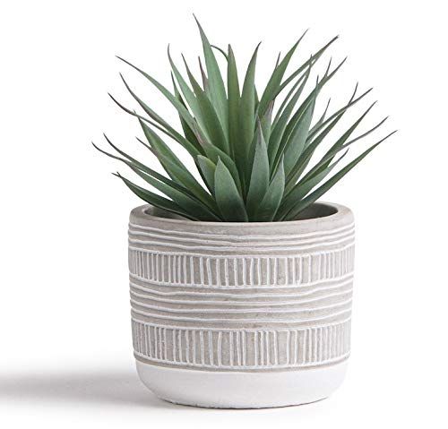 Kurrajong Farmhouse 7.5 x 4.5 Artificial Plant in Pot Beautiful Feaux Plant for Bedroom Decor, Shelf Decor or as a Desk Plant. Fake Plant Decor, Artificial Succulent Plants Potted, Faux Succulents