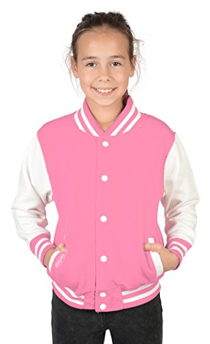 Tini - Shirts Mädchen Kinder College Sweatjacke: Mädchen College Jacke Goodman - Kinder Collegejacke Farbe: rosa Gr: S