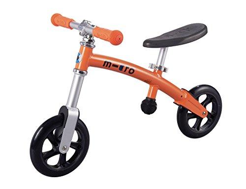 Micro G-Bike Laufrad für Kinder mit 200 mm Rollen in orange