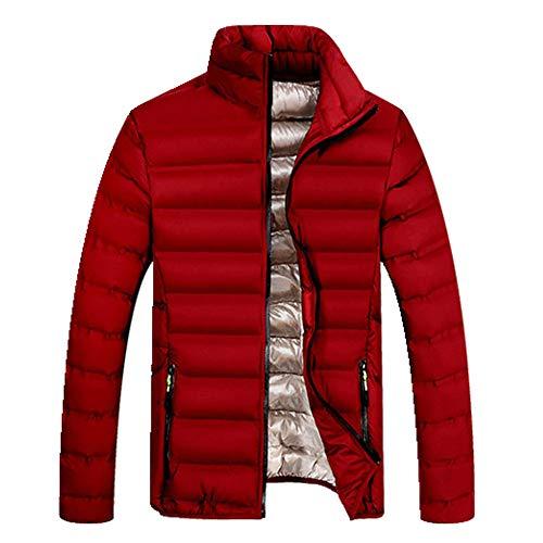 Primavera otoño Parkas Stand Collar Abrigo Masculino Caliente invierno Hombres ropa