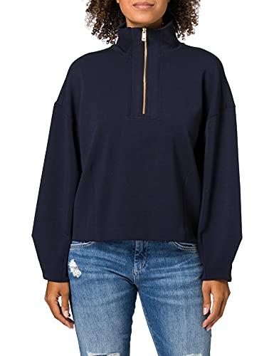 Scotch & Soda Strukturiertes Anorak-Sweatshirt Sudadera, Night 0002, XS para Mujer