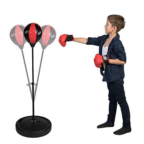 COSMOLINO Punchingball für Kinder - Box Set Kinder – Sportgeräte für Kinder - mit Boxhandschuhen - Höhenverstellbar