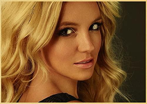 SIRIUSART Leinwand Poster Bilder Drucken Poster von Britney Spears Wertvolle Sammlung Retro Poster Sexy Frau Decorin Bar Home Wall 60x90cm