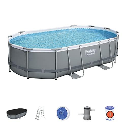 Bestway Power Steel Above Ground Pool, Garden Swimmin Pool Set with Filter...