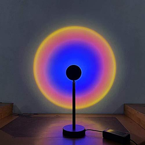 Iluminación decorativa Ambiente Ambiente Noche Luz de noche, Rotación de la lámpara de la mesa de proyección del arco iris, luz del sol/soporte de sol, lámpara de pie para el dormitorio Regalo de pr