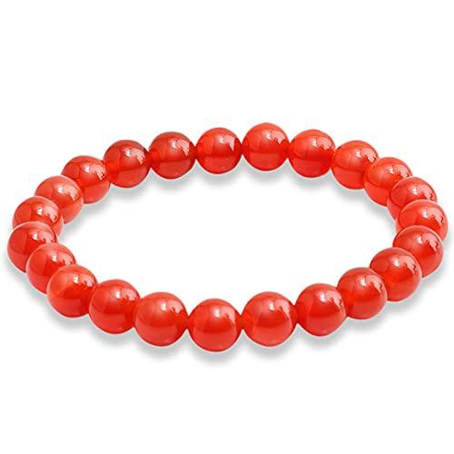 N/A Aniversario Pulseras de turquesas desgastadas moradas de Piedra volcánica de Lava de ágatas Coloridas de Moda 15 Estilos de Encanto para Hombre Cuerda roja elástica