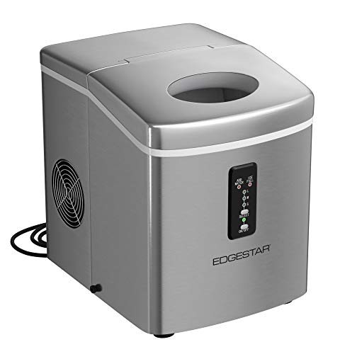 EdgeStar PIM100SS 12 Inch Wide 2.2 Lbs. Capacity Portable Ice Maker with 26.5 Lbs. Daily Ice Production