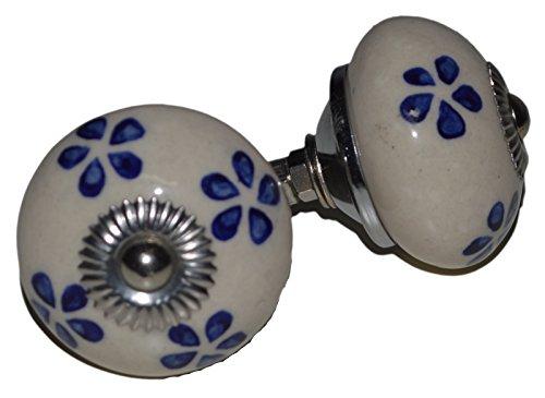 Meubelknoppen meubelknop meubelgreep keramiek porselein handgeschilderd vintage meubelknoppen voor kast Indisch 96 4 cm blauw