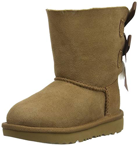 UGG Unisex Kinder Bailey Bow II Classic Boot, Chestnut, 25 EU