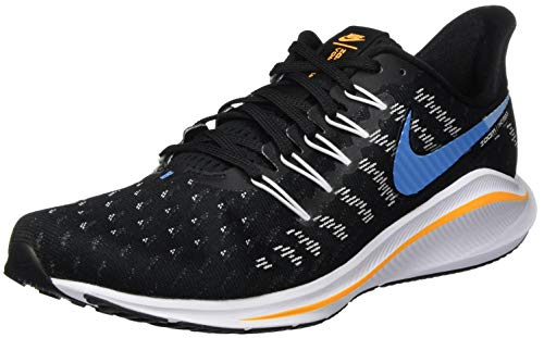 Nike Mens Zoom Vomero 14 Running Shoe, Black/University Blue-White-Psychic Blue, 42 EU