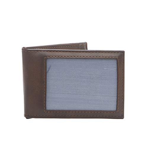 Chaps Herren RFID Security Blocking Slim Front Pocket Wallet Geldbörse, braun, Einheitsgröße