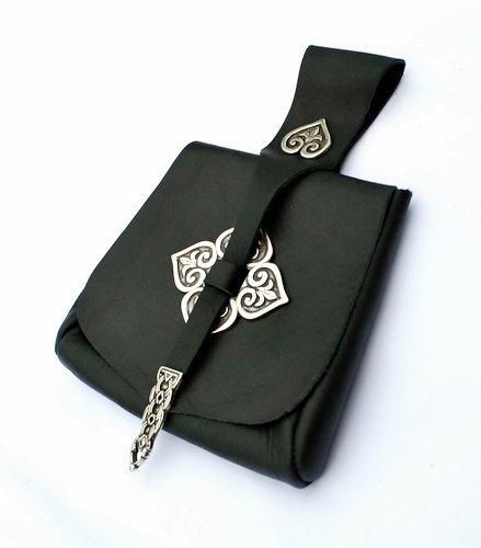 Pera Peris Birkatasche - Tasche nach einem Fund aus der Wikinger-Siedlung Birka mit Beschlägen Farbe schwarz