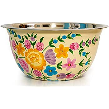 Hand Painted Fruit bowl and Salad bowl - Decorative Bowl Design by Indian Artisans for Dough bowl or Bread bowl