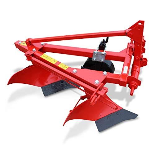 Wallentin & Partner | Zweischarpflug | 2 Schar Pflug 40 cm | Pflug Kleintraktor ab 20 PS | Zweischariger Pflug 75 kg | Zweischariger Pflug Traktor Dreipunktanbau Kat. 1
