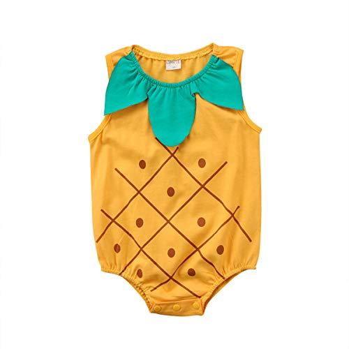 Wang-RX Reizendes neugeborenes Baby-Mädchen-Kleidungs-Karikatur-Bodysuit-Frucht-Erdbeerananas-Ausstattungs-Ostern-Kostüm für Baby