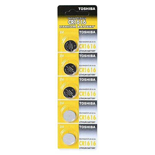 Toshiba Batterie au lithium CR1616 3 V 1 Lot (5 Piles) fabriqué au Japon