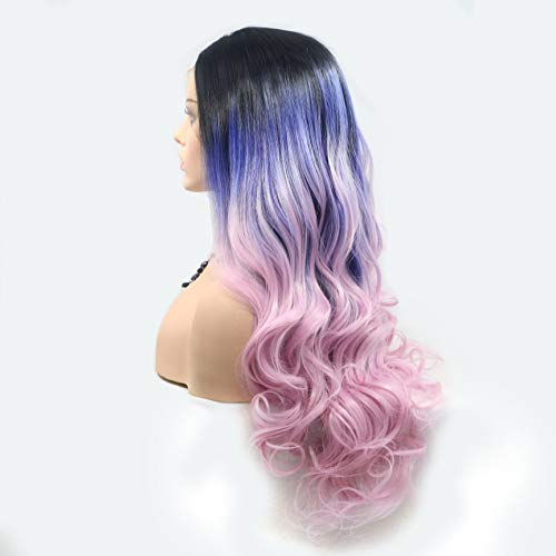 Perruques synthétiques pour femme dégradé de couleurs