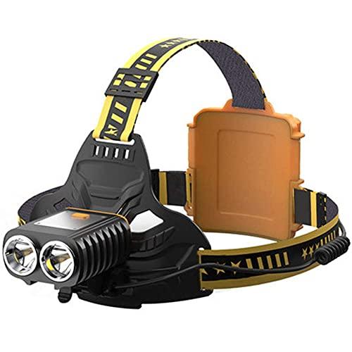 Faro 5000 lumen recargable faro de alta luz brillante faros 4 modos Ajustable impermeable Luz de trabajo ligero a prueba de agua para el casco Camping Ciclismo Caza Pesca Escalada al aire libre mei