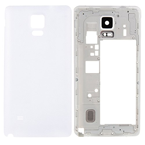 High-end Best Replacement Parts Full Housing Cover(Middle Frame Bazel Back Plate Housing Camera Lens Panel + Battery Back Cover) Compatible With Samsung Galaxy Note 4 / N910F ( Color : White )