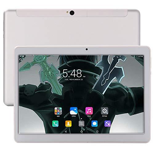 10-Zoll-Android 8.0-Tablet, 6 GB RAM, 64 GB Speichertablett, Deca-Core-Entriegelungstablett für 4 G-Telefone, WLAN, GPS, Bluetooth 4.0, 1920 x 1200 HD IPS-Bildschirmanzeige (Silber)