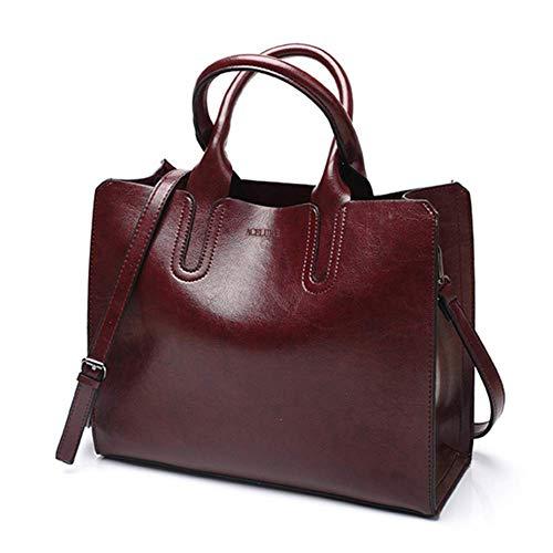 New Leather Handbags Big Women Bag Casual Female Bags Trunk Tote Spanish Brand Shoulder Bag Ladies Large