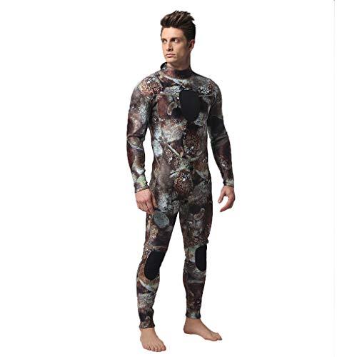 QIMANZI Taucheranzug Herren Wetsuit 3MM Ganzkörperanzug Super Stretch Tauchanzug Swim Surf Schnorcheln(Kaffee,L)