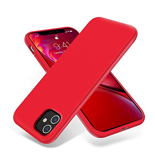 OTOFLY iPhone 11 Case,Ultra Slim Fit iPhone Case Liquid Silicone Gel Cover with Full Body Protection Anti-Scratch Shockproof Case Compatible with iPhone 11 (Red)