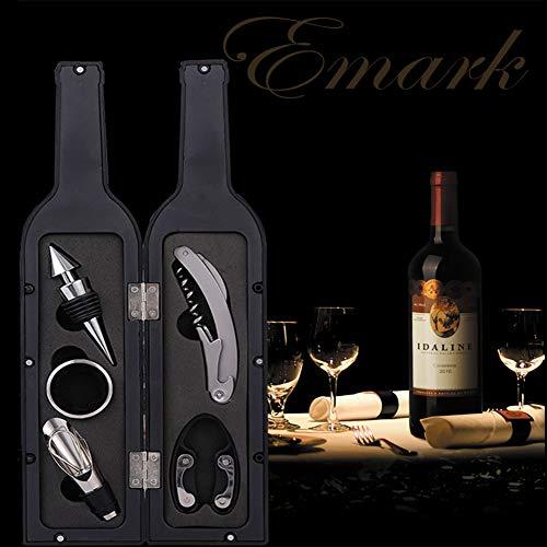 Korkenzieher Weinflaschenöffner, 5 Stück Edelstahl-Korkenzieher, Folienschneider, Tropfstopper, Weinausgießer und ein robuster, normaler Weinverschluss.