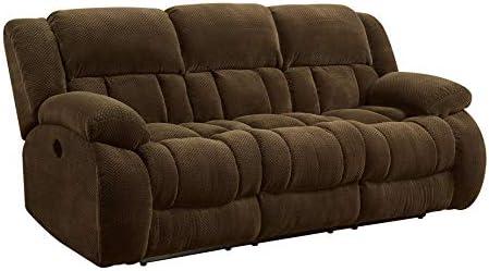 Coaster Home Furnishings Weissman Pillow Padded Motion Sofa Chocolate product image