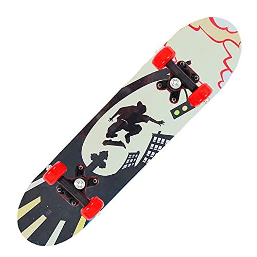 XJZSD Skateboard de Cuatro Ruedas, Adolescentes Principiantes para niños de Doble Cara Scooter de Arce para niños Regalos de cumpleaños