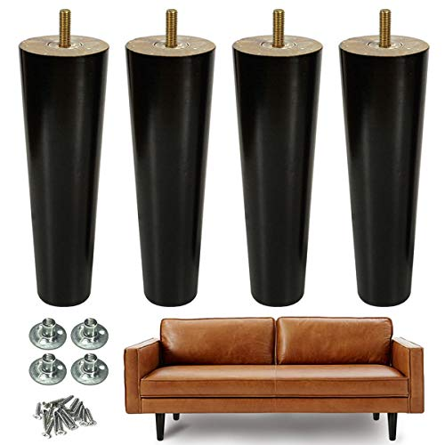 AORYVIC 9 inch Wood Furniture Legs Replacement Sofa Legs Pack of 9 for  Couch Feet Chest of Drawers Cabinet DIY Furniture Project with Pre-drilled  9/9