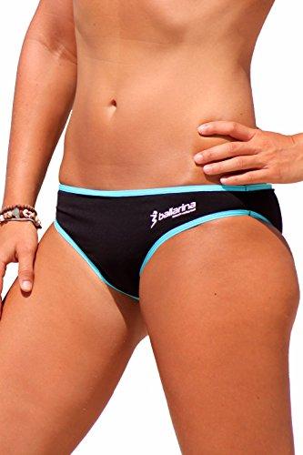 ballarina Beachvolleyball Bikini-Hose Sandpant, schwarz-Scuba Blue (M)