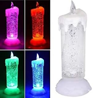 Goreal 26cm Decorative Sequinned LED Candle, Colour Changing USB LED Light Glitter Water