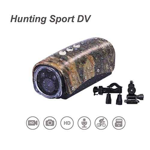 OHO 32GB 1080 HD IP66 Waterproof Action Camera Compatible for Gun, Recording up to 3 Hours Video for Hunting and with Torch Feature
