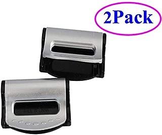 ZLMC Car Seatbelt Adjuster Clip Belt Seat- Universal Plastic Lock [2 Pcs] Strap Clamp Shoulder Neck Auto Vehicle Clip for Kids and Adults-Silver ZLMC