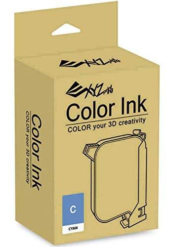 Ink Cartridge for Inkjet Printing - Cyan - Specially designed for XYZ Printing Da Vinci Color Printers