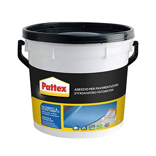 Pattex Pavimenti e Rivestimenti Colla per rivestimenti a presa rapida, Colla per tessuti, moquette, linoleum, PVC, gomma, sughero, Colla per pavimenti e pareti, secchio 5kg