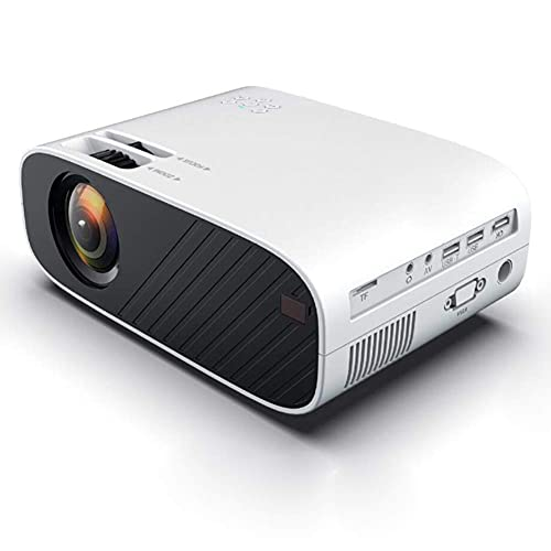 ZHAOHGJ Worth Having - Proyector de Video LED portátil Opcional WiFi Bluetooth Beamer Soporte Completo HD 1080P Cine de Cine en casa, Blanco