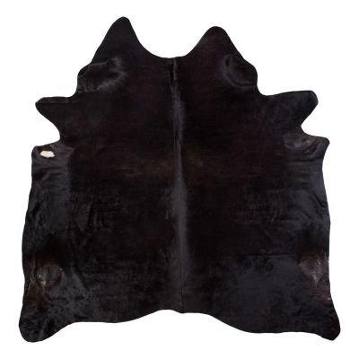 Kuhfell - ca. 3,2 bis 4,5qm Echtfell Leder - robust und haltbar – als Teppich, für die Wand oder Deko- braun oder schwarz