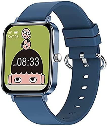 LLM Moda multifunción múltiples Modos Deportivos 1.69 Pulgadas de Pantalla Grande Reloj Inteligente Fitness Health Tracker Sport Smartwatch para Android iOS(B)