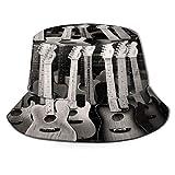 TTLUCKY Sombrero de Pesca,Fondo de Guitarra de Juguete,Senderismo para Hombres y Mujeres al Aire Libre Sombrero de Cubo Sombrero para el Sol