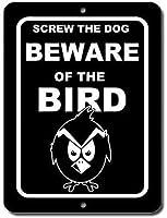 ヴィンテージの外観の再現、鳥の部屋に注意する犬のネジ、米国プロのグラフィックスで印刷されたティンサインで作られた屋内と屋外の取り付けが簡単