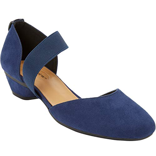 Comfortview Women's Wide Width The Camilla Pump Heeled Shoes - 11 W, Evening Blue
