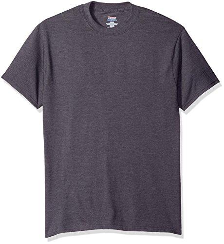 Hanes Men's Short Sleeve Beefy-T, Smoke Gray, Large
