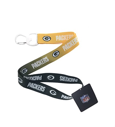 Ombre Color Football Sports Fan Keychain Lanyard with Bottle Opener