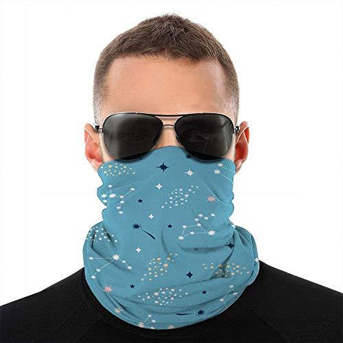 ALaze Sternbilder Sterne auf blauem Kleid Verschiedenes Gesicht Schalabdeckung Outdoor Sport Laufgesichtsabdeckung Vielfalt Gesicht Handtuchhals Stirnband
